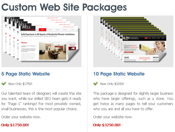 Custom Web Sites Designed By Easy Local SEM